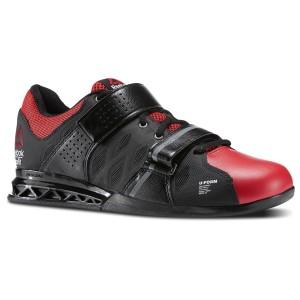 Reebok CrossFit Lifter Plus 2.0 (Zwart-rood) - Zijaanzicht
