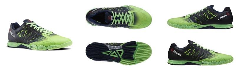 Reebok-CrossFit-Speed-TR-grijs-groen-meerdere-aanzichten